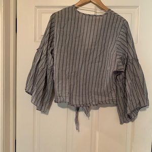 Tops - Striped front tie top